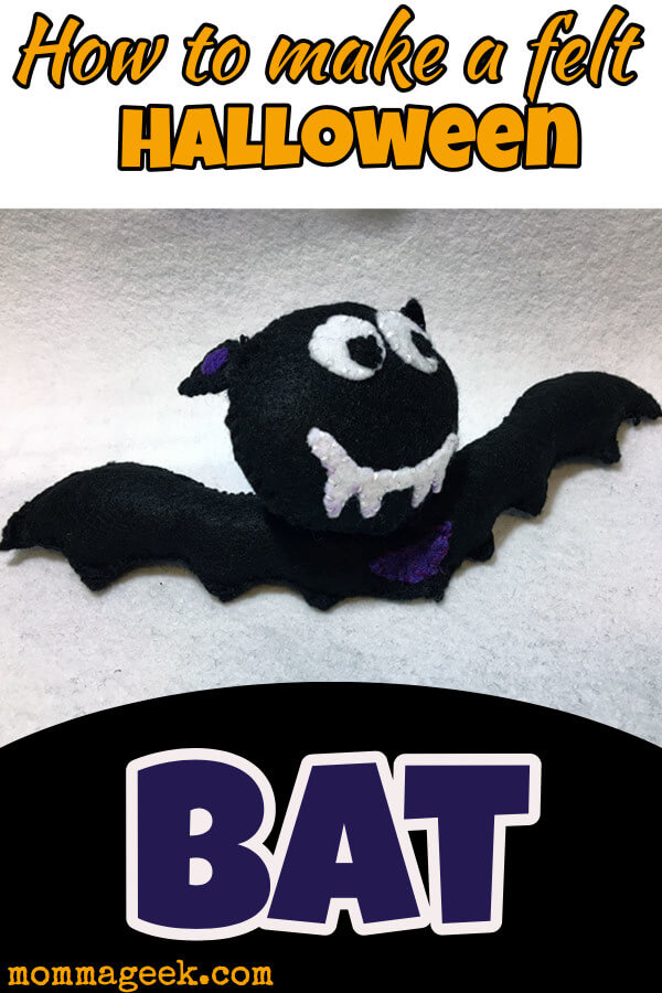 free felt bat pattern and tutorial