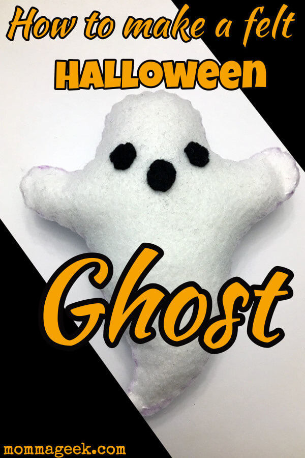 Felt Ghost pattern and tutorial for Halloween