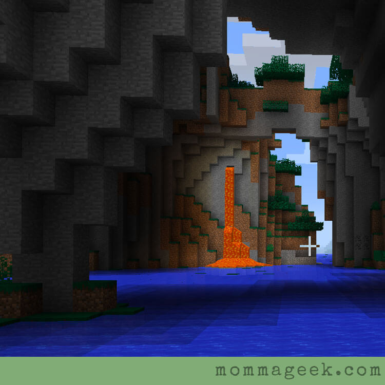 Minecraft math lava falls