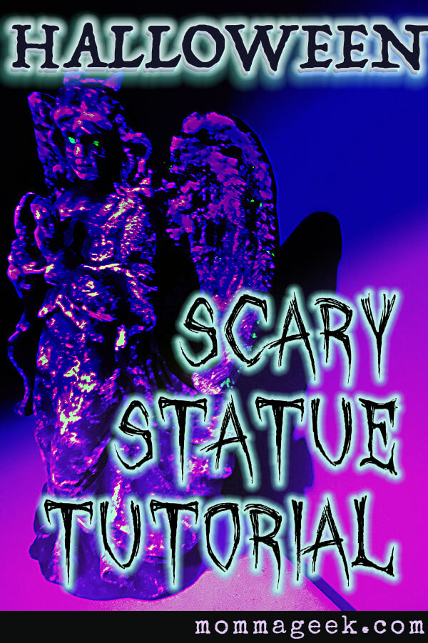 Haunted glow in the dark halloween statue.