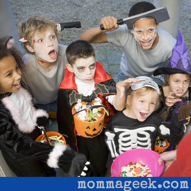 Are your kids too old for trick or treating? An older child can take younger kids trick or treating.