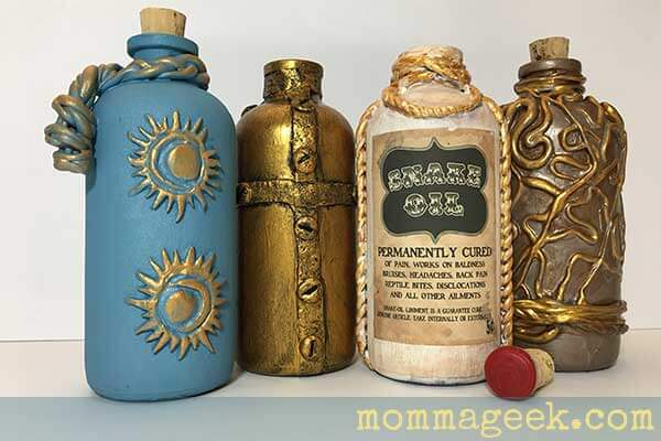 Polymer clay bottles and jars