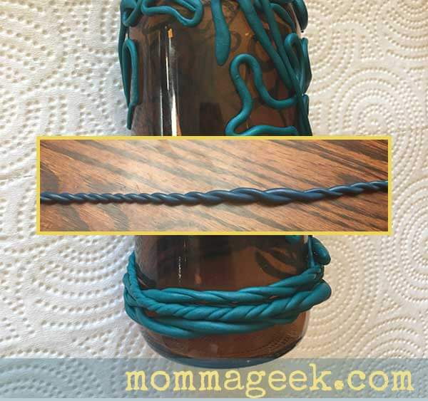 twitsted polymer clay rope
